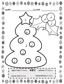 Christmas Color By Note ( 13 Christmas Music Coloring