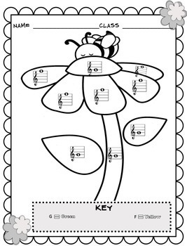 Color By Note (MEGA-BUNDLE of Music Coloring Sheets) by