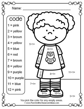 3rd Grade Go Math Chapter Six 6.9 Color By Numbers Divide