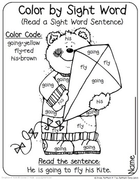 Color By Sight Word Sentences (First Grade Edition) by The