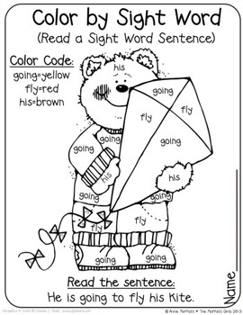 Color By Sight Word Sentences (The Bundle) by The Moffatt