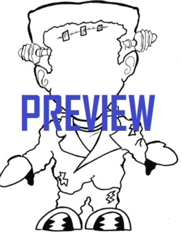 Color Frankenstein Halloween Falloween Coloring Page