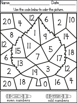 Color It Color By Number Odd And Even Numbers Math