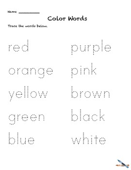 Color Words Activities preK-1 Colors Worksheets Learn