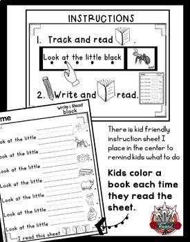 Color Words Bundle: Sight Words, Simple Sentences, Writing
