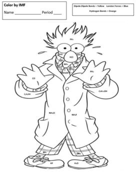 Color-by-IMF (Intermolecular Forces Coloring Page) for