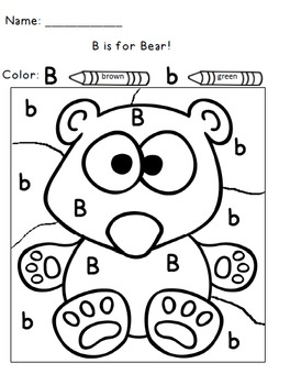 Color by Letter Alphabet Practice Alphabet Worksheets by