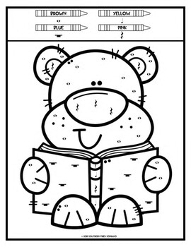 Color by Music: Bears and Bugs (Note and Rest Values) by