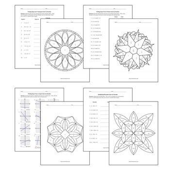 Algebra 1 Color by Number Bundle 1: 11 Essential Skills by
