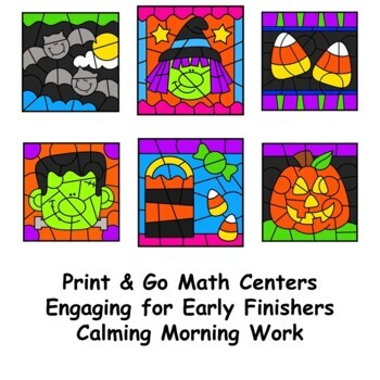 Color by Number Halloween Multiplication & Division Facts