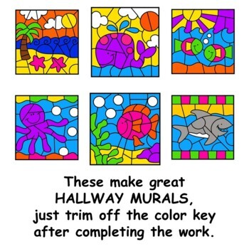 Color by Number Ocean Math Mystery Pictures Math Facts