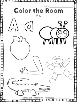 Color the Room I can learn my ABC's by Teaching