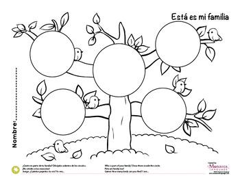 Coloring Activity: Esta es mi familia / This is my family