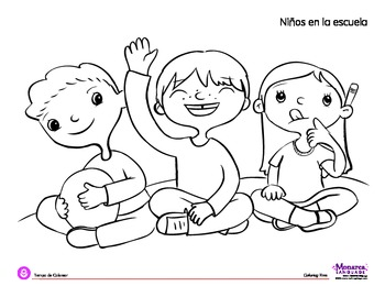 Coloring Page: Back to School: Circle Time by Monarca