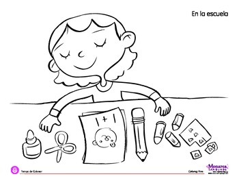 Coloring Page: Back to School: My Supplies by Monarca