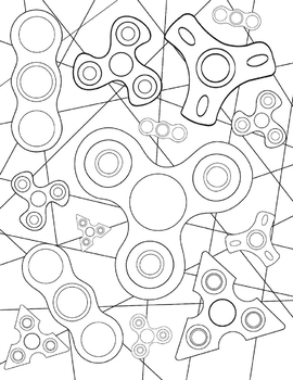 Coloring Page Bundle: Growth Mindset and Fidget Spinners