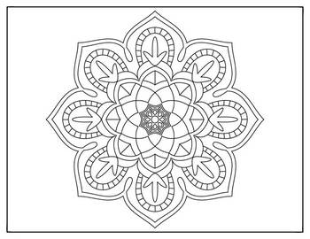 Coloring Pages 10 Mandala Designs Set 1 Perfect for