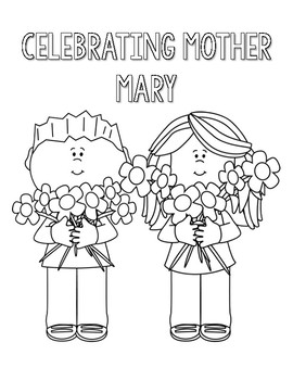 Coloring Pages Mother Mary May Crowning by Countless Smart
