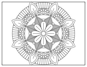Coloring Pages 10 Mandala Designs Set 2 Perfect for
