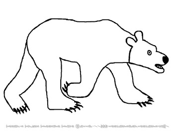 Coloring Pages for Eric Carle's Polar Bear by Teeny's