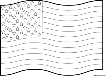 Coloring Pages for Flag Day/4th of July by Little Stars
