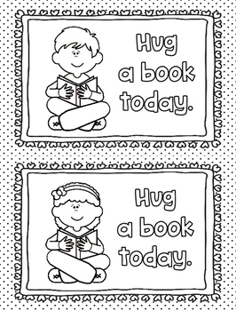 Coloring Pages for Classroom or Library Centers: Reading