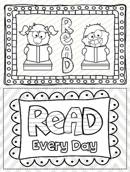 Coloring Pages for Reading Motivation FREE Distance
