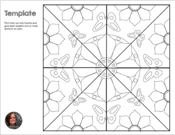 Springtime Butterfly Mosaic- Interactive Coloring Sheets