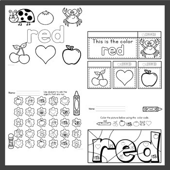 Preschool Color Activities / Pre K Learn about Colors by