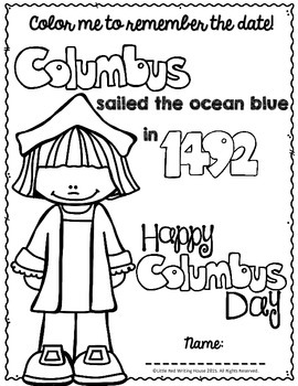Columbus Day {Activities & Printables} by Little Red