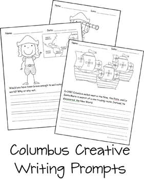 Columbus Day Creative Writing Prompts (Kindergarten & 1st