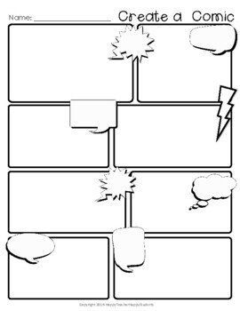 FREE Comic Strip Template (Comic Book Paper) by