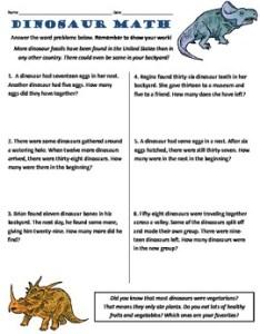 Common core nd grade math word problems dinosaur themed also by rh teacherspayteachers