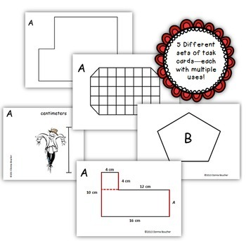 Common Core: Area and Perimeter Task Cards by Math Coach's