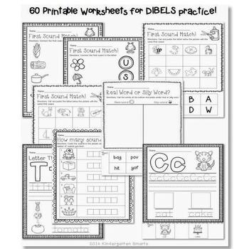 Kindergarten DIBELS and Math Assessments (the bundle) by