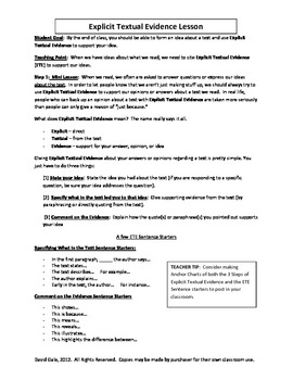 Common Core Citing Textual By Common Core Content Literacy Shoppe  Teachers Pay Teachers