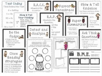 1st-6th Tools for Interactive Notebook Close Reading