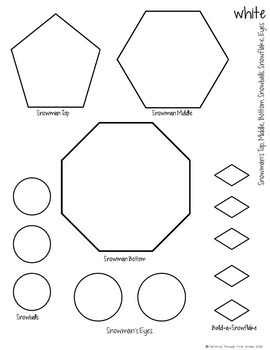 Common Core Craftivity ~ Shape Snowman by Fluttering