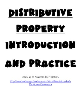 Common Core Distributive Property Introduction and