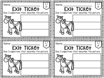 Common Core Exit Tickets: ELA SAMPLE by Mrs Plemons