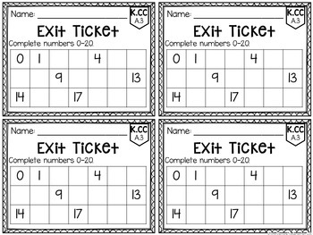 Common Core Exit Tickets: MATH SAMPLE by Mrs Plemons