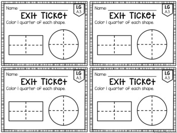 Common Core Exit Tickets: First Grade Math Bundle by Mrs