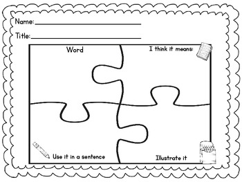 Common Core Graphic Organizers {Grades K, 1 & 2} by Becca