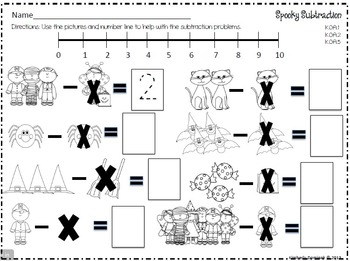 Common Core Halloween Math for Kindergarten! by kim