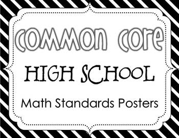 Common Core High School Math Standards Posters {Black and