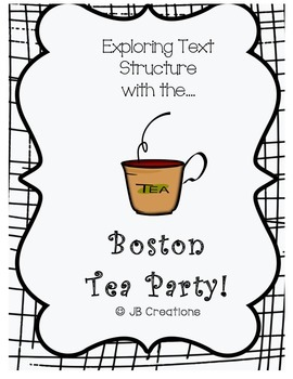 Text Structure Group Scoot Game ( theme: Boston Tea Party