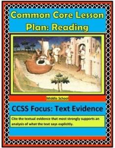 Common core lesson plan text evidence also by lights on literacy tpt rh teacherspayteachers