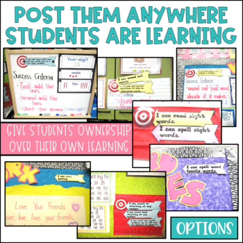 Common Core Speaking and Listening Learning Targets