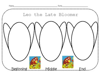 Common Core Literature Writing Activities for Leo the Late