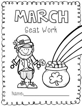 2nd Grade Common Core: March Morning Seat Work Packet by